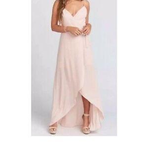 Show me your mumu medium Mariah wrap dress beige